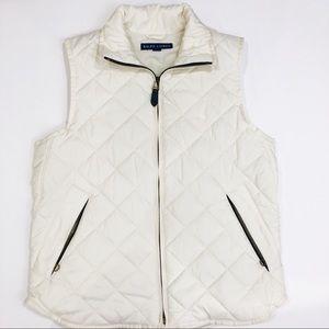 Ralph Lauren Puffer Vest Cream size small